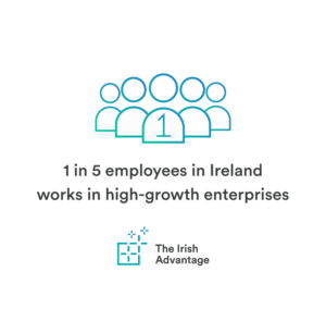 Irish Advantage innovation as 1 in 5 employees work in high-growth companies.