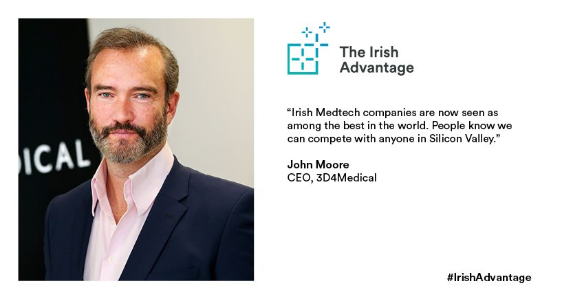 John Moore CEO of Irish Medtech company 3d4Medical