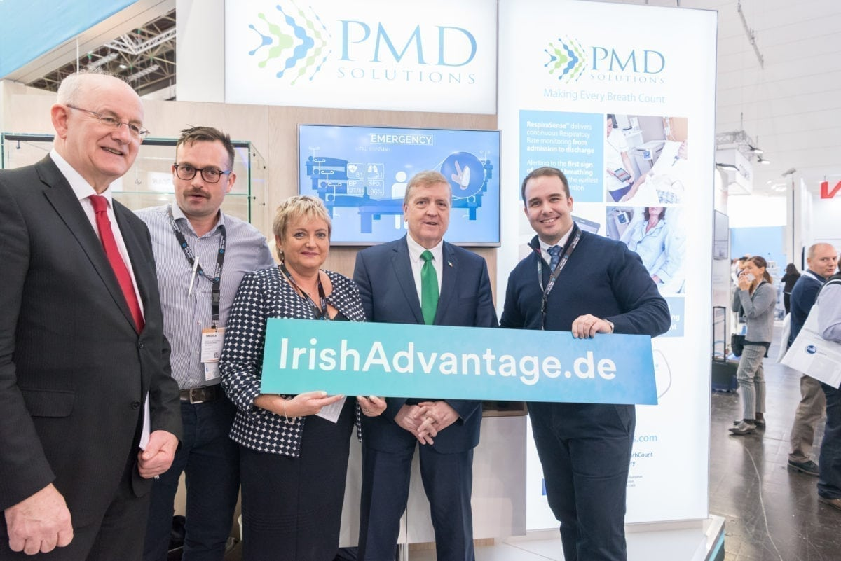 PMD with Irish Minister Pat Breen TD and Enterprise Ireland at Medica